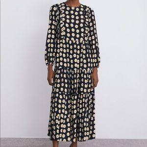 NWT Zara daisy maxi dress